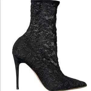 Aldo Halle black lace bootie